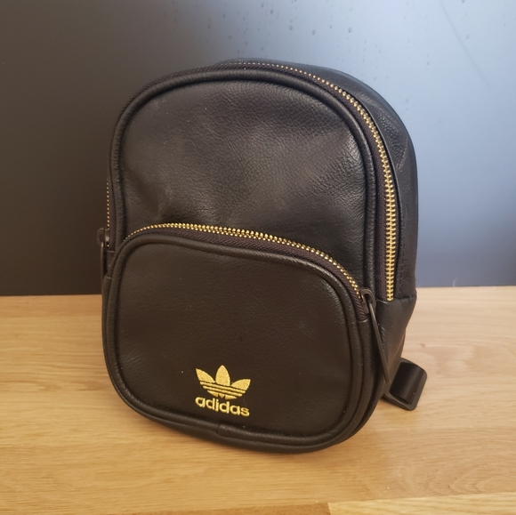 Adidas Mini Backpack Black and Gold